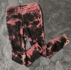 Blackheart Tie Dye Jeans